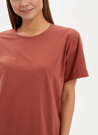 DeFacto Uzun T-shirt Bordo